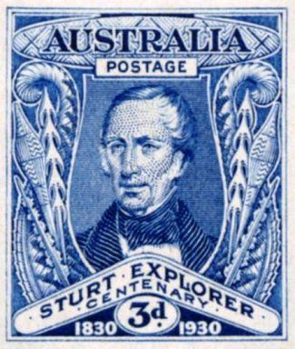stamp_Charles_Sturt_explorer